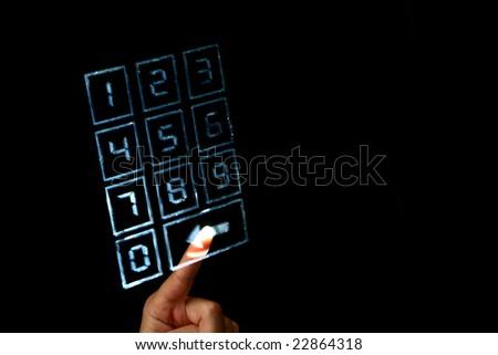 enter code - stock photo