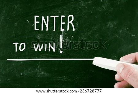 enter to win! - stock photo