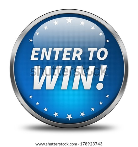 Enter To Win button isolated  - stock photo