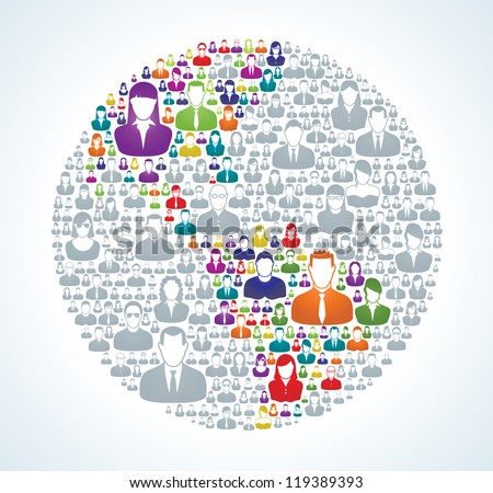 Entire world is socially connected and united around a vision. - stock photo