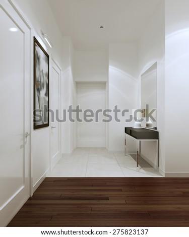Entrance high-tech style. 3d render - stock photo
