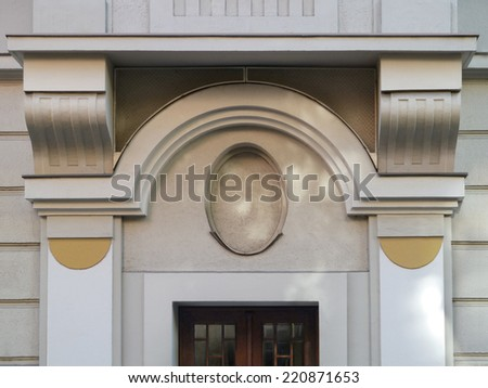 Entrance of a classicist House - stock photo