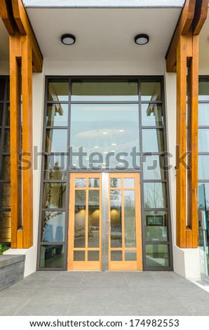 Entrance of a house building in Vancouver, Canada. - stock photo