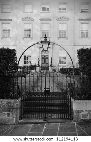 Entrance of a Luxurious London Town House - stock photo