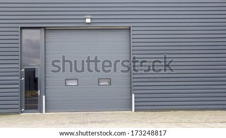 Entrance of modern business unit - stock photo