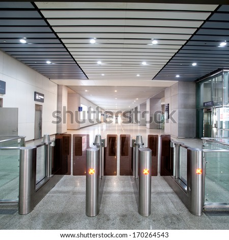 Entrance of railway station  - stock photo