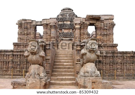 Entrance of the Sun temple, Konark - stock photo