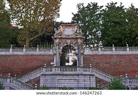 Entrance of the Villa Borghese park in Rome, Rome, Lazio, Italy - stock photo