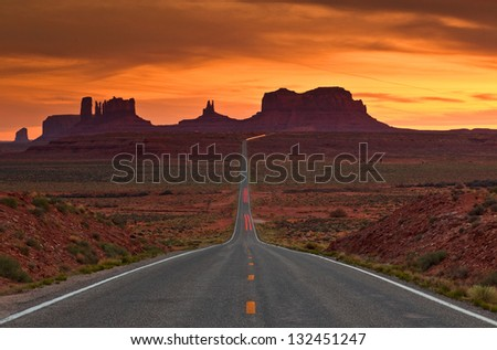 Entrance to Monument Valley Navajo Tribal Park , Arizona, USA - stock photo