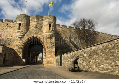 Entrance to the castle. - stock photo