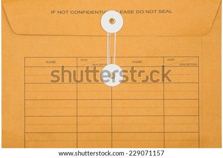 envelope document - stock photo