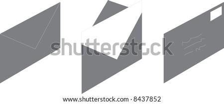 Envelope illustration - stock photo