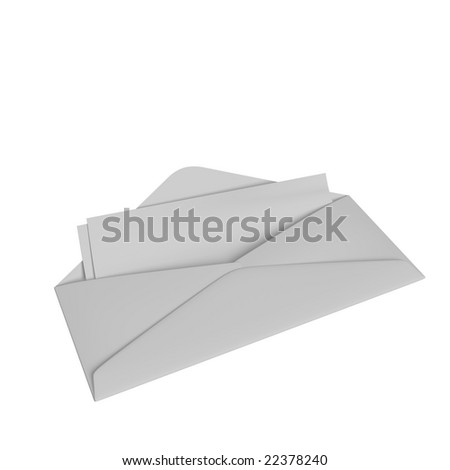 Envelope with checks or tickets inside - stock photo