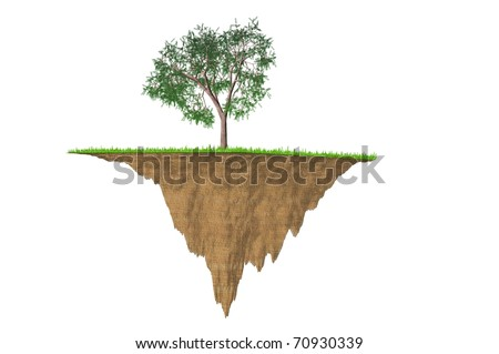 enviromental small planet soil crossection concept image - stock photo