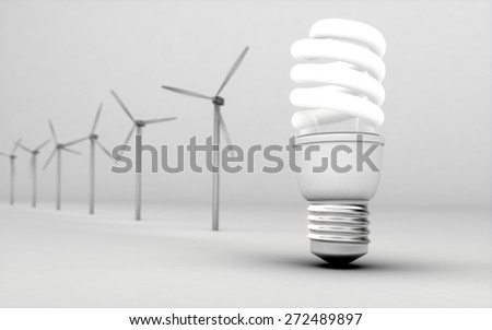 Environment. 3D. Energy - stock photo
