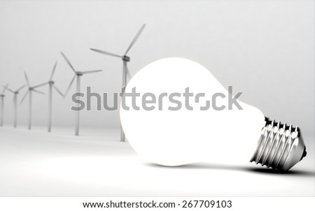 Environment. 3D. Save the Nature - stock photo