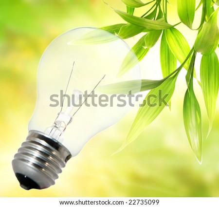 Environment friendly bulb - stock photo