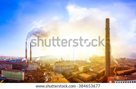 Environment pollution - stock photo