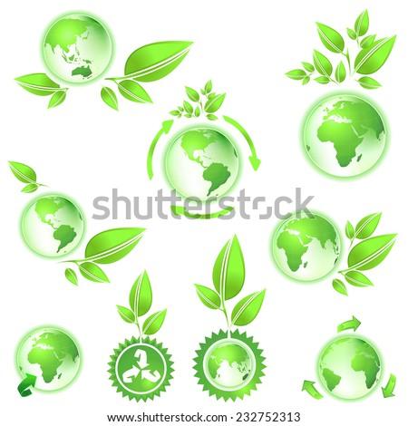 environmental conservation symbol planet earth - stock photo