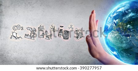 Environmental damage - Earth Day Theme - Images furnished by Nasa  - stock photo