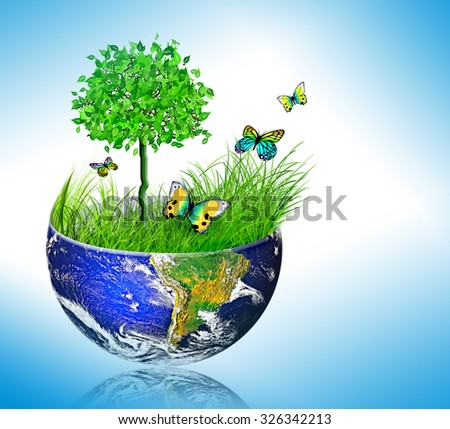 Environmental energy concept, cycling in nature, nature protection - stock photo