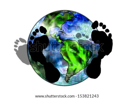 Environmental Footprint - stock photo