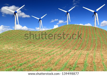 Environmental friendly alternative energy - stock photo