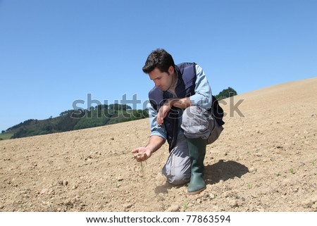 Environmental issues and lack of water - stock photo
