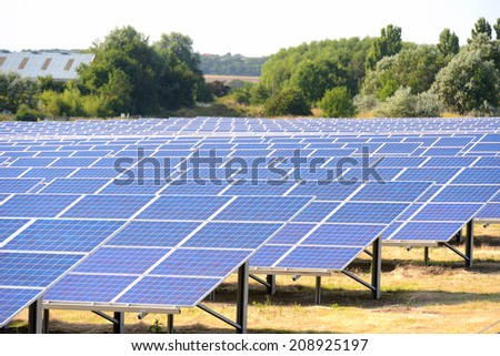 Environmentally friendly energy from the sun.  - stock photo
