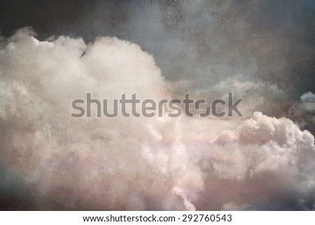 epic blue sky with clouds  - stock photo