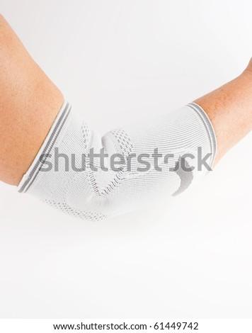epicondylitis bandage, elbow support - stock photo