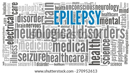 Epilepsy in word collage - stock photo