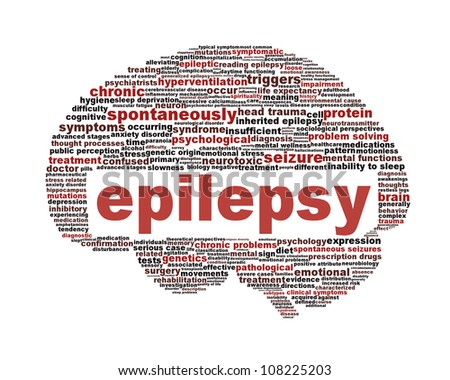 Epilepsy symbol isolated on white. Neurological disorder icon conceptual design - stock photo