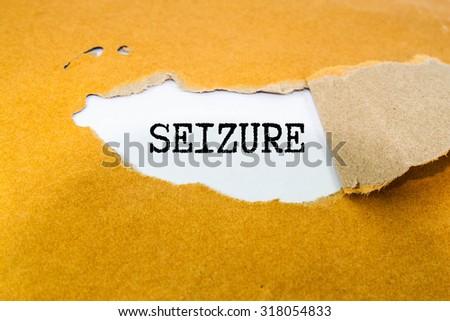 Epilepsy text on brown envelope  - stock photo