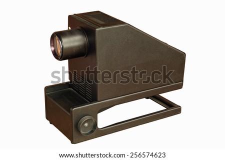 episcope, epidiascope, old display technology - stock photo