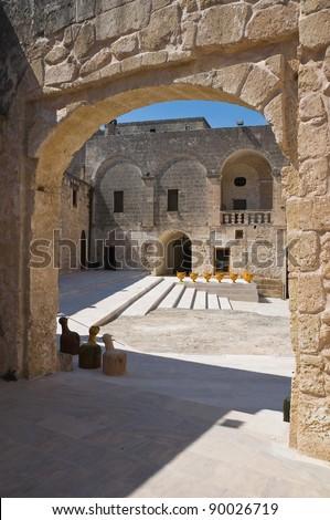 Episcopio Castle. Grottaglie. Puglia. Italy. - stock photo