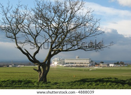 Epsom Racecourse. - stock photo