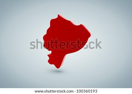 Equador Map - stock photo