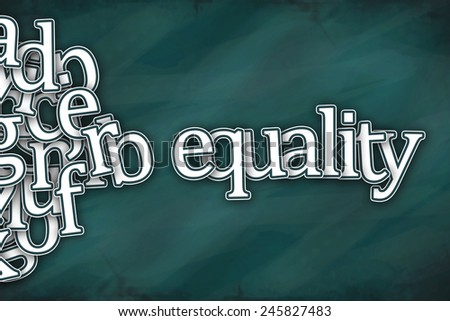 equality word on green background - stock photo