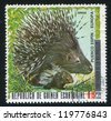 EQUATORIAL GUINEA - CIRCA 1972: stamp printed by Equatorial Guinea, shows Porcupine, circa 1972 - stock photo