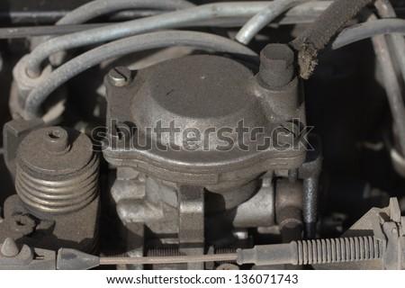 equipment for diesel engine - stock photo