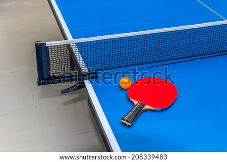 Equipment for Table Tennis. - stock photo