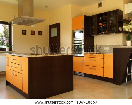 Equipment of modern luxury house - stock photo