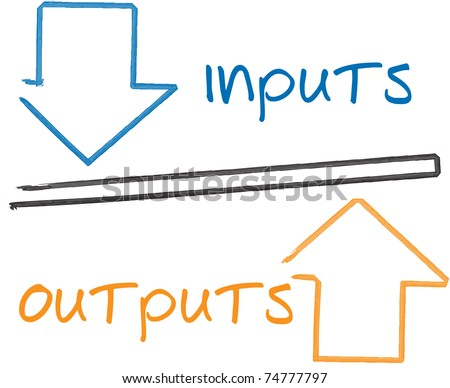 Equity theory business strategy management process concept diagram illustration - stock photo