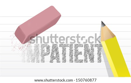 erase impatience illustration design concept over white - stock photo