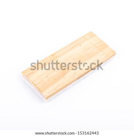 Eraser blackboard on white background - stock photo