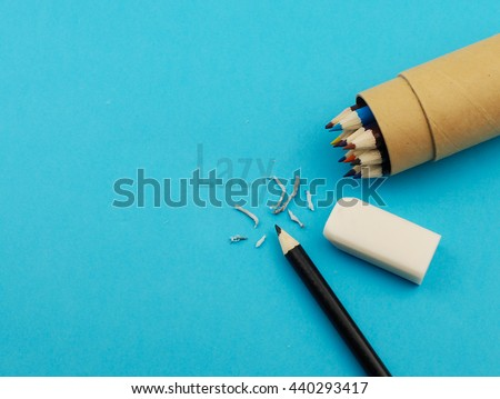 Eraser deleting word lazy - stock photo