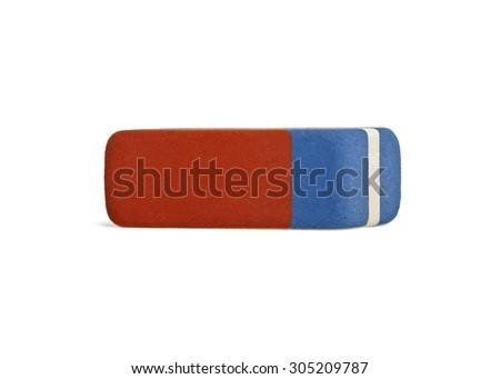Eraser isolated on white background - stock photo