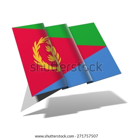 Eritrea flag 3D banner - stock photo