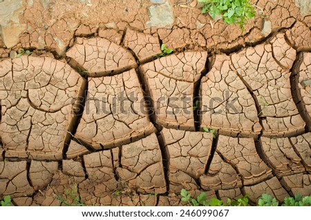eroded earth - stock photo